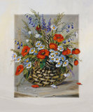 Blooming Basket Print by Katharina Schottler