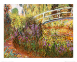 The Japanese Bridge Prints by Claude Monet