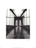 Ponte do Brooklyn, Nova York Poster por Christopher Bliss