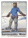 Winter in Bayern Giclee Print by  Erler