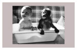 Bath With a Little Friend Prints