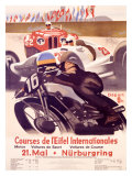 Course de l'Eifel Internationales Wydruk giclee autor Alfred Hierl