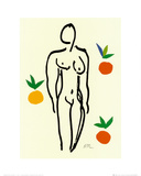 Nu Aux Oranges Prints by Henri Matisse