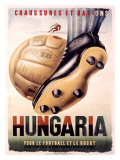 Hungaria Soccer Shoes Giclée-tryk