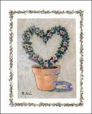 Heart Topiary Prints by Barbara Norris
