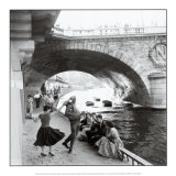 Rock 'n Roll am Kai in Paris Kunstdruck von Paul Almasy