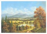 Chemin Qui Mene au Lac I Plakater af Helmut Glassl