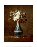 Vase of Flowers Print by Jean-Baptiste Simeon Chardin