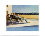 Zonaanbidders Print van Edward Hopper