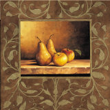 Pears and Apples Print by Andres Gonzales