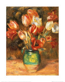 Tulips in a Vase Prints by Pierre-Auguste Renoir
