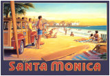 Visit Santa Monica Posters by Kerne Erickson