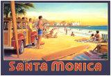 Visit Santa Monica Posters by Kerne Erickson