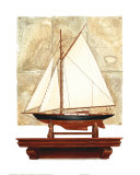 Yacht and Antique Map II Prints by Richard Henson