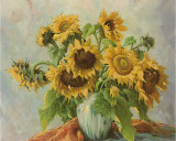 Sonnenblumen III Print by E. Kruger