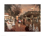Evening Street Scene Prints by Christa Kieffer