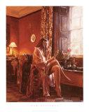 Femme avec Miroir Print by Rob Hefferan