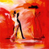 Romanze in Rot II|Romance in Red II Kunstdrucke von Alfred Gockel