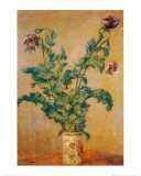 Purple Poppies Poster por Claude Monet