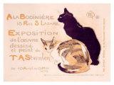 Exposition à la Bodinière Reproduction procédé giclée par Théophile Alexandre Steinlen