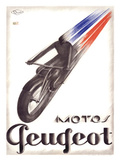 Motos Peugeot Giclee Print by  Marton