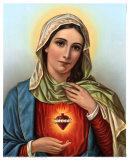 Sagrado corazón de María Lámina