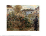 Monet Painting in His Garden at Argenteuil, 1873 Poster by Pierre-Auguste Renoir