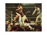Dempsey und Firpo Kunstdruck von George Wesley Bellows