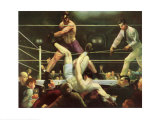 Dempsey e Firpo Poster di George Wesley Bellows