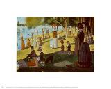 A Sunday on La Grande Jatte 1884, 1884-86 高品質プリント : ジョルジュ・スーラ