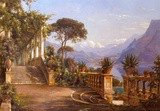 Lodge on Lake Como Prints by Carl Frederic Aagaard