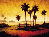 Sunset Palms I Planscher av Gregory Williams