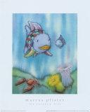 Poisson arc-en-ciel et petit poisson bleu Affiches par Marcus Pfister
