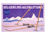 Bilgeri, Ski Ausrustung Giclee Print by Carl Kunst