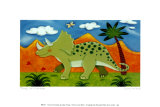 Timmy the Triceratops Posters by Sophie Harding