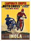 Moto Club Imola Motocross Giclee Print by  Pozzi