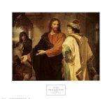 Cristo y el joven soberano Lámina por Heinrich Hofmann