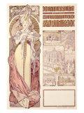 Osterreich, Paris, 1900 Giclee Print by Alphonse Mucha