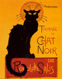 Tournee der schwarzen Katze, ca. 1896 Kunstdrucke von Théophile Alexandre Steinlen