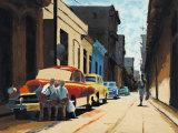 Cuban Street Scene Affiches par Samuel Toranzo