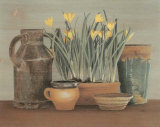 Arrosoir et Crocus Prints by Laurence David