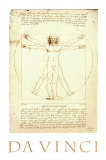Vitruvian Man, c.1492 Print by Leonardo da Vinci 