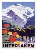 Swiss Alps, Interlaken Wydruk giclee