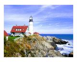 Portland Head Lighthouse & Casco Bay Giclée-tryk af New Yorkled