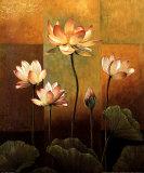 Fleurs de lotus Affiches par Jill Deveraux