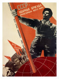 USSR: Udarnaya Brigada Proletariata Vsego Avant Garde Giclee Print by Gustav Klutsis