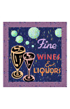 Fine Wines and Liquors Giclee Print