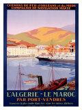 Algiers to Morocco Giclee Print