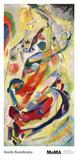 Schilderij nummer 200 Print van Wassily Kandinsky