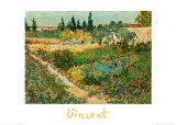 Flower Garden Posters by Vincent van Gogh
